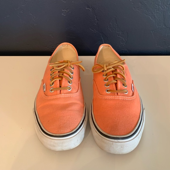 peach pink vans